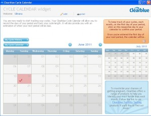 Clearblue Menstrual Cycle Calculator
